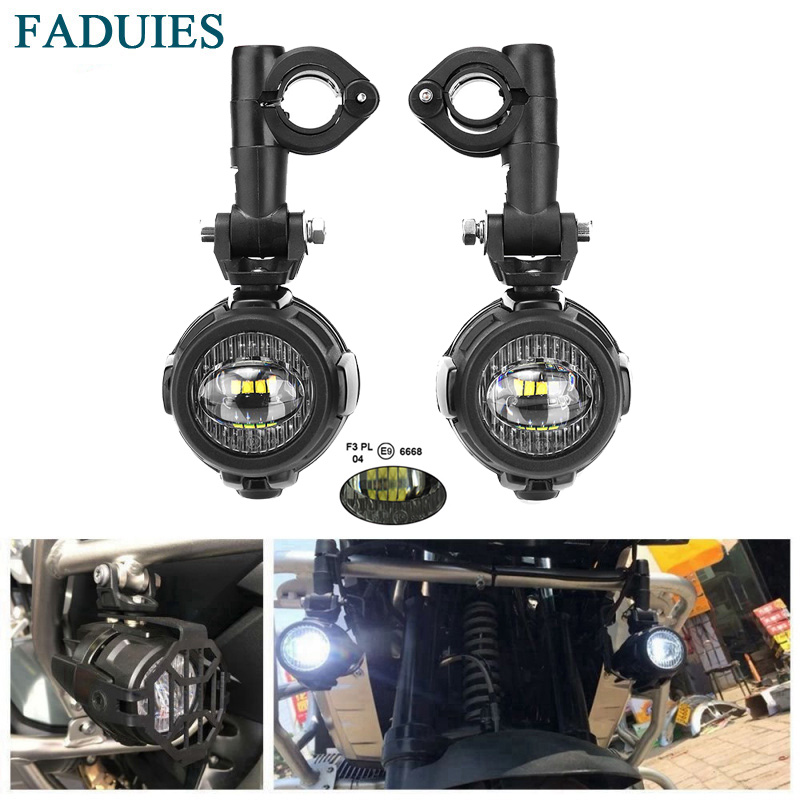 Faduies motocycle luzes de nevoeiro para bmw motocicleta led auxiliar nevoeiro luz condução da lâmpada para bmw r1200gs/adv k1600 r1200gs r1100gs