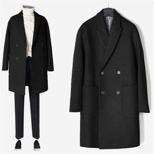 Image 5 - 2019 neue Männer Windjacke Herren Graben Mantel Männer Mantel Lässig Jacke Mode Marke Kleidung männer Wolle Graben Mantel Lange für männer
