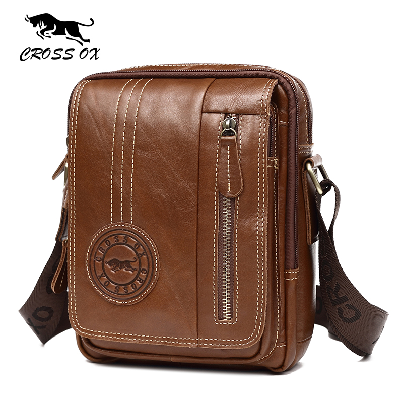 CROSS OX Summer New Arrival Men FashionFlap Bag Genuine Leather Shoulder Casual Style Cow Leather Male Crossbody Bag SL414M eureka style ox