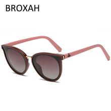 Модные женские поляризационные солнцезащитные очки кошачий глаз, пластиковые солнцезащитные очки для девушек, роскошный бренд, Okulary UV400, Lunette De Soleil Femme