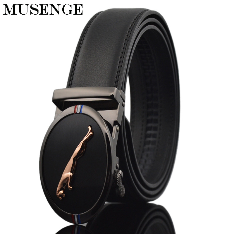 Loyal Musenge Designer Men Belts Business Genuine Leather High Quality Automatic Metal Buckle Belt Luxury Strap Brand Male Waistband Easy To Repair
