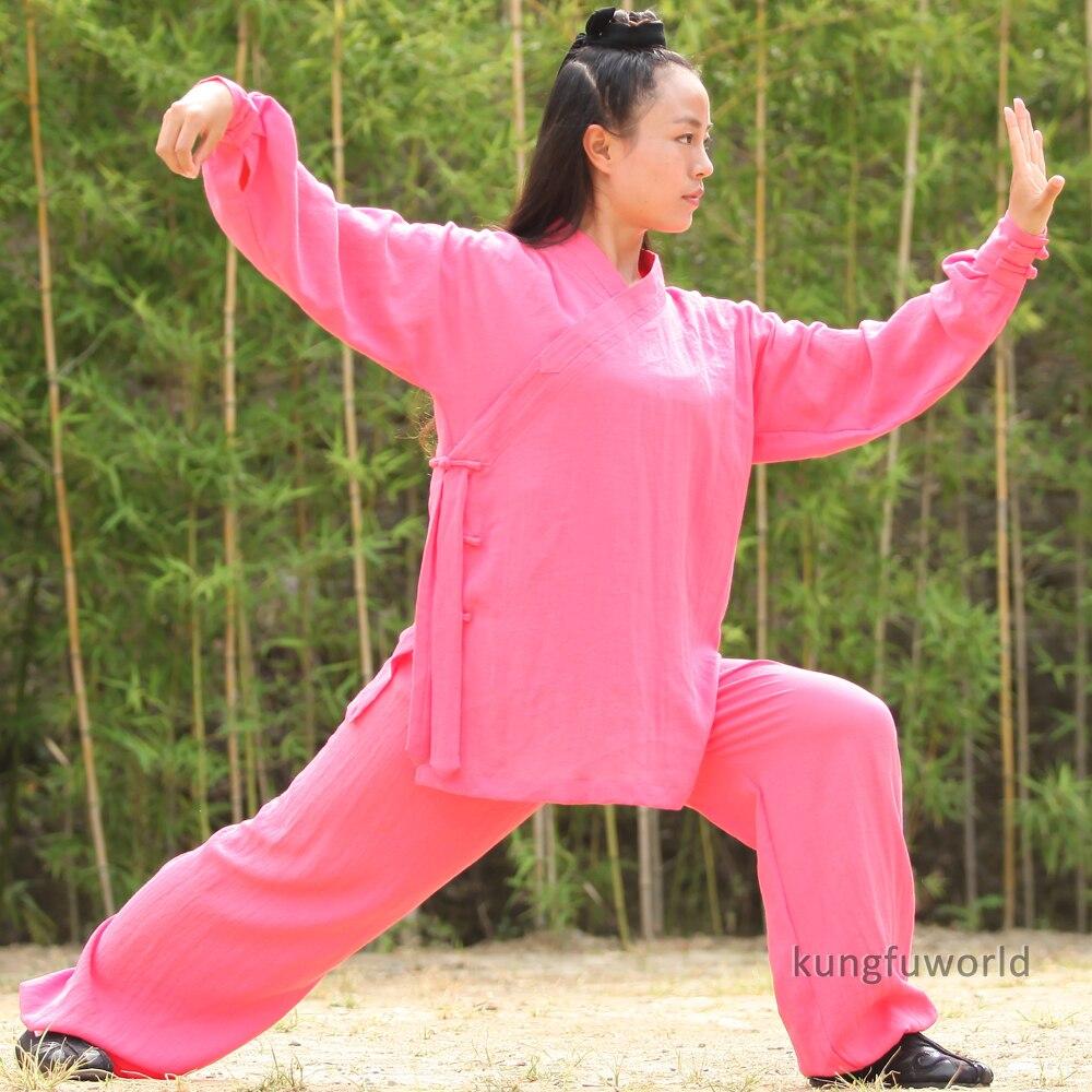 25 Colors Women's Wudang Taoist Robe Style Tai Chi Uniform Martial Arts Wushu Kung Fu Wing Chun Suit