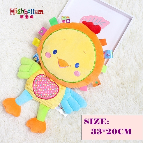 8 Styles Baby Toys Rattles Pacify Doll Plush Baby Pillow Animal Hand Bells Sleeping Bed Pillow Newborn Animal