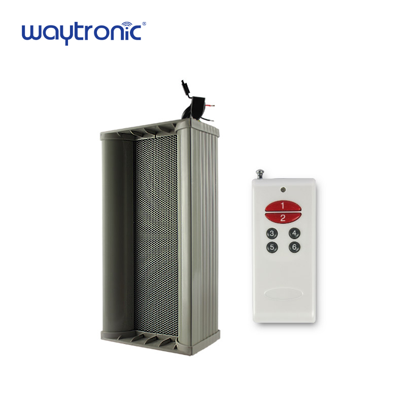 Outdoor Waterproof Big Power Motion Sensor Audio Amplifier Speaker Recordable For Station Street Forest Safety Voice Reminder