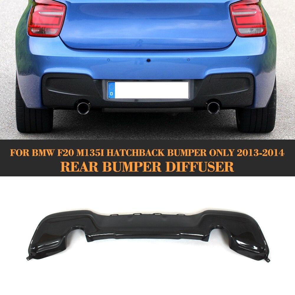 Lèvre de diffuseur arrière en Fiber de carbone pour BMW série 1 F20 M Sport Hatchback M135i 2012 - 2014 aileron de lèvre de diffuseur de pare-chocs arrière FRP