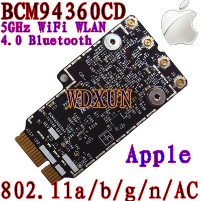 Broadcom BCM94360CD 802.11ac mini PCI-E WiFi WLAN Bluetooth 4.0 Card 1200Mbps 4360CDBroadcom BCM94360CD 802.11ac mini PCI-E WiFi WLAN Bluetooth 4.0 Card 1200Mbps 4360CD
