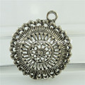 Free shipping 18469 8PCS Vintage Antique Silver Alloy Filigree Hollow Flowers Pendant Jewelry