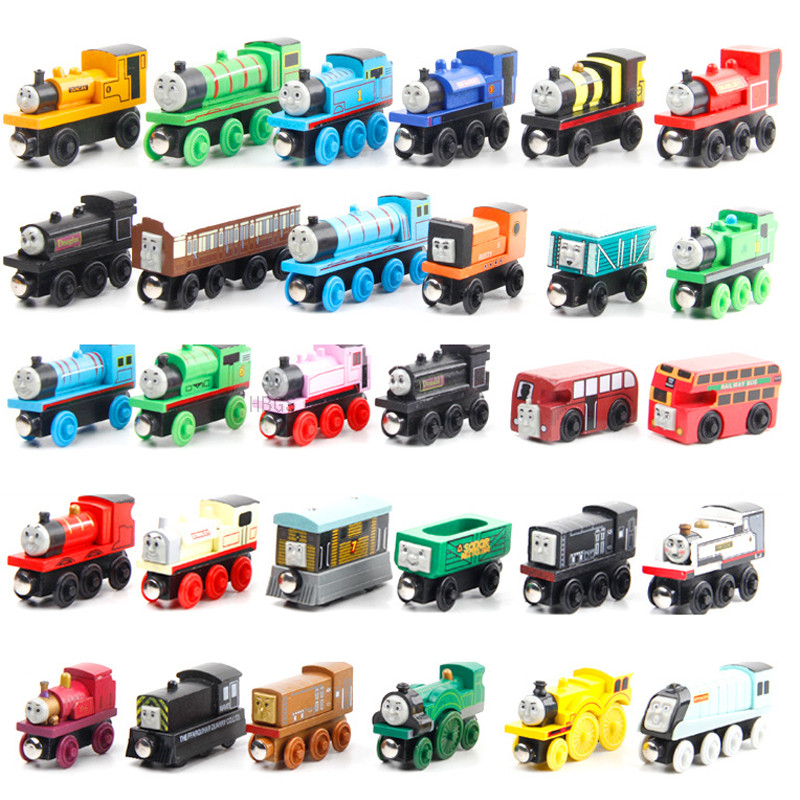 Wooden Train Engine Magnetic Thomas Train Toys Thomas And Friends Locomotives For Baby Children Kids Oyuncak
