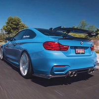 Carbon Fiber CAR REAR WING TRUNK LIP SPOILER FOR BMW M1 M3 M4 M5 M6 1 2 3 4 5 6 7 Series MAD GT BY EMS