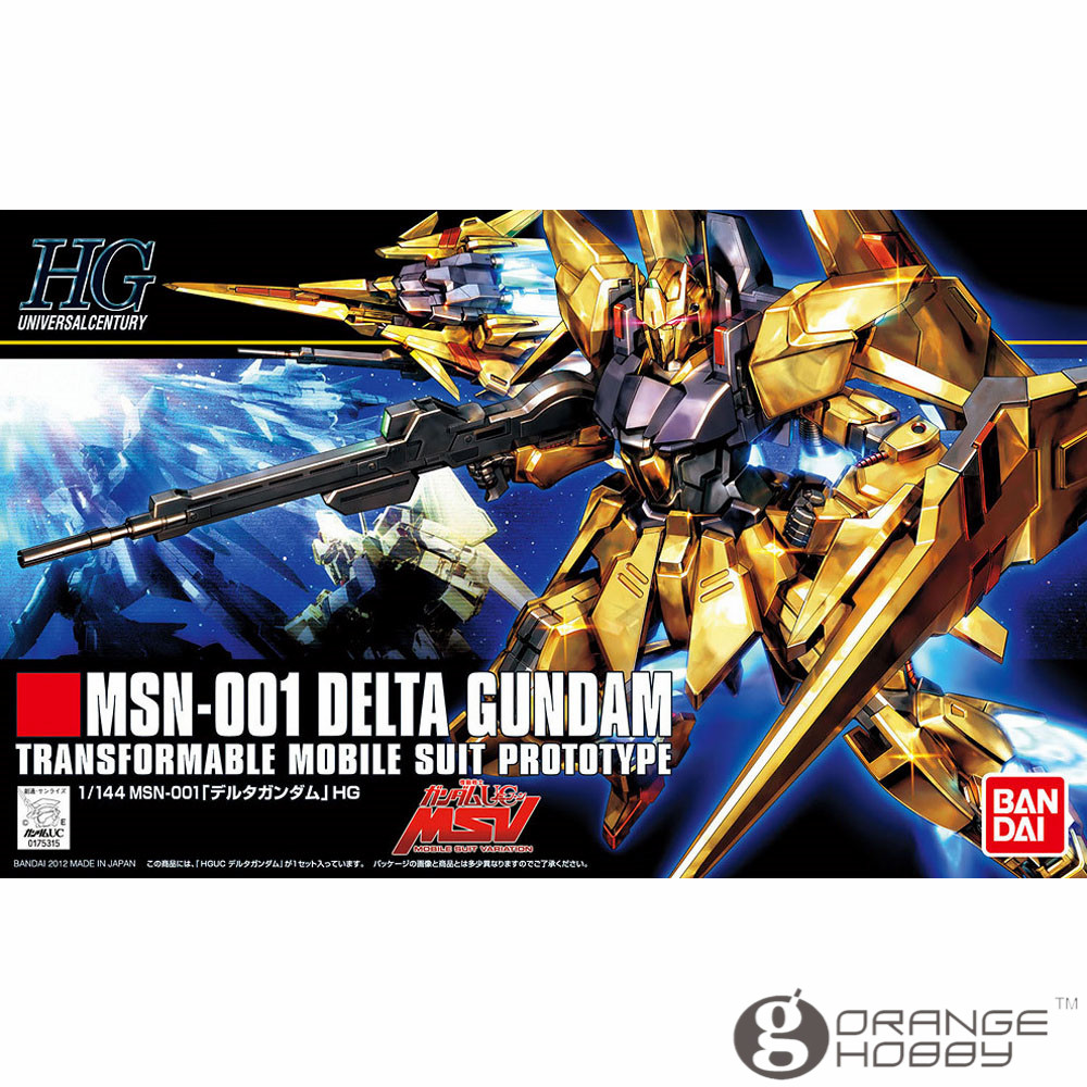 OHS Bandai HGUC 136 1/144 MSN-001 Delta Gundam Mobile Suit Assembly Model Kits ohs bandai mg 155 1 100 rx 0 unicorn gundam 02 banshee mobile suit assembly model kits oh