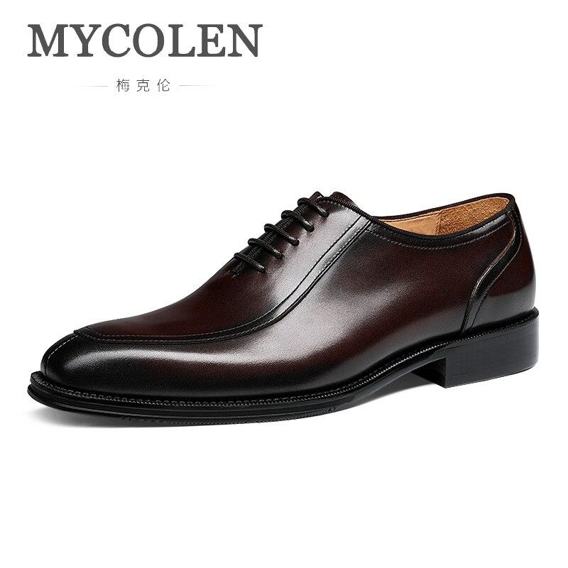 Designer Preto Homens Hommes Chaussures up Projeto Sapatos En brown Luxo Cuir Lace Homem Couro Mycolen De Botas Flats Macio Fundo SwUSBd