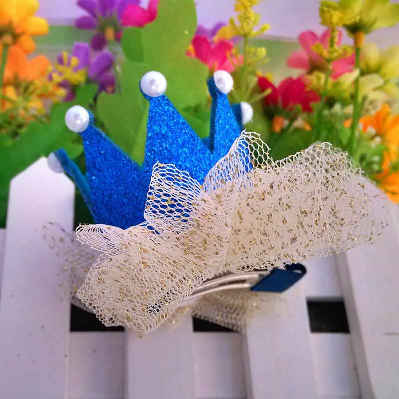 M MISM Crown อุปกรณ์เสริมผมเพิร์ลเงาหนัง Tiaras Hairpins สาว Charming Princes Barrettes ปาร์ตี้เต้นรำคลิปผม