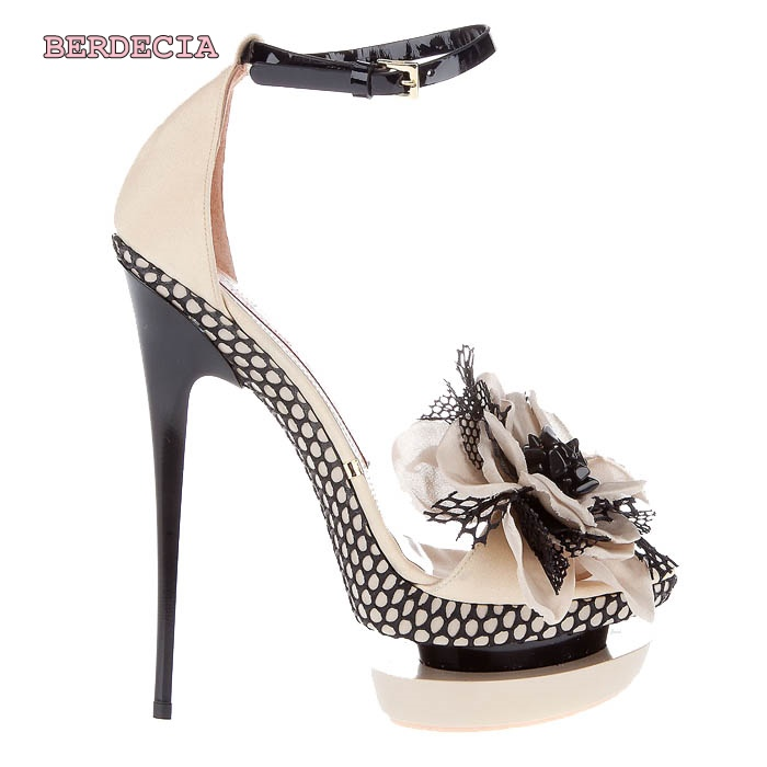 Summer new fashion 14 cm high heel sandals decorated with chic flower open toe shoes buckle strap stiletto heel shoes dropship womens fashion high heel strappy crossover barely there buckle party stiletto sandals shoes xd195