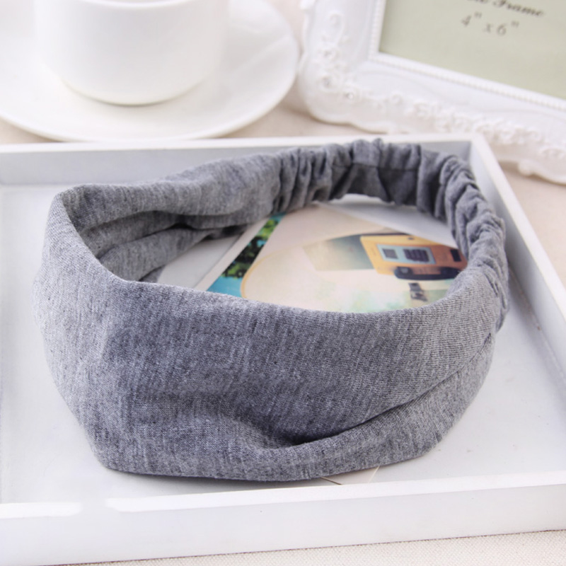 New Fashion Women Soild Simple Soft Cotton Headband Elastic Hairbands Hair Bands   Headwear   Elegant Fashion Hair Accessories