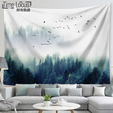 Mountains Bird Animal Tapestry Wall Carpet Cloth Hanging Leaf Home Decor Beach Mat Printing Polyester Living Room Mat(China)