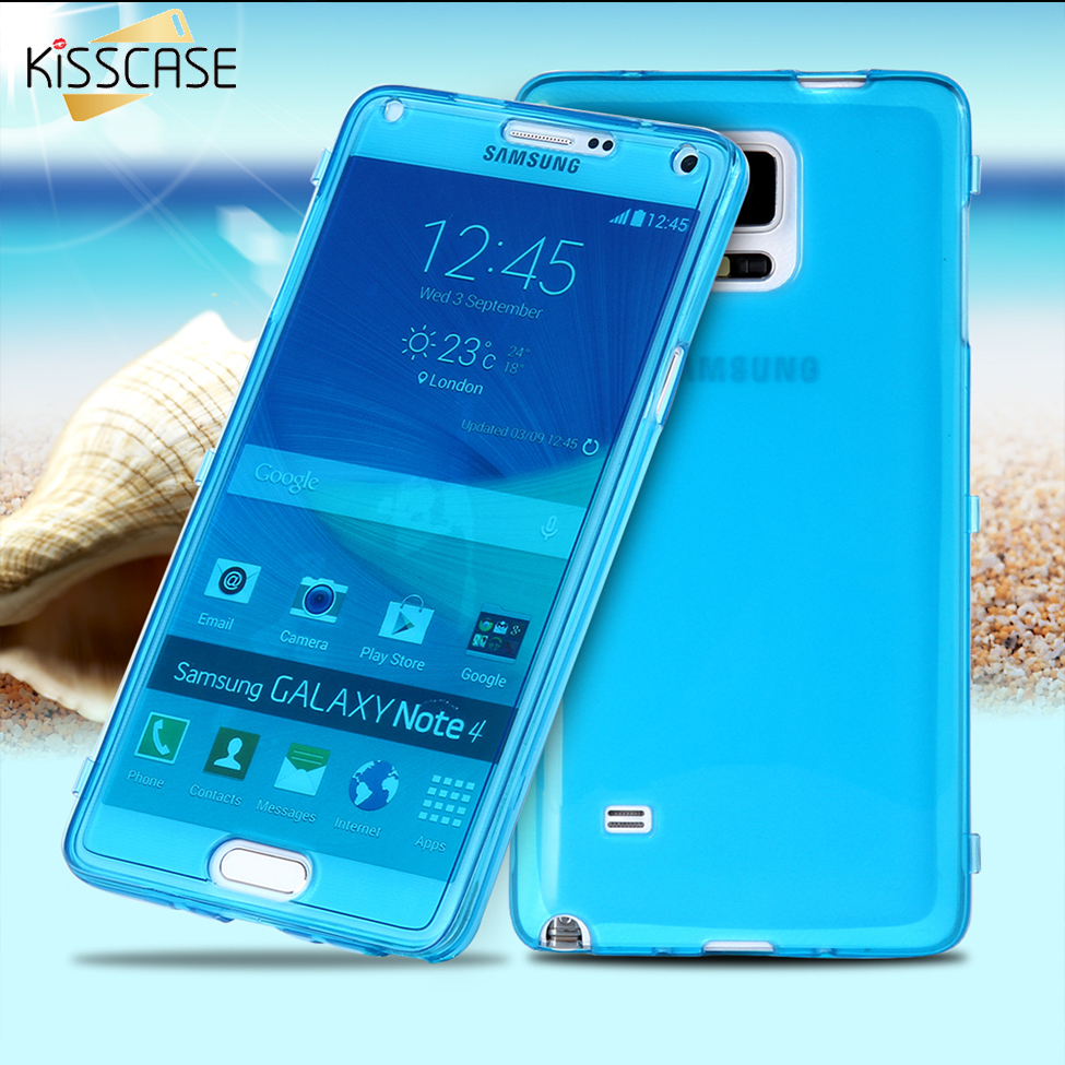 Kisscase For Samsung Note 4 5 Case Ultra Thin Transparent Clear Soft Case  For Samsung Galaxy