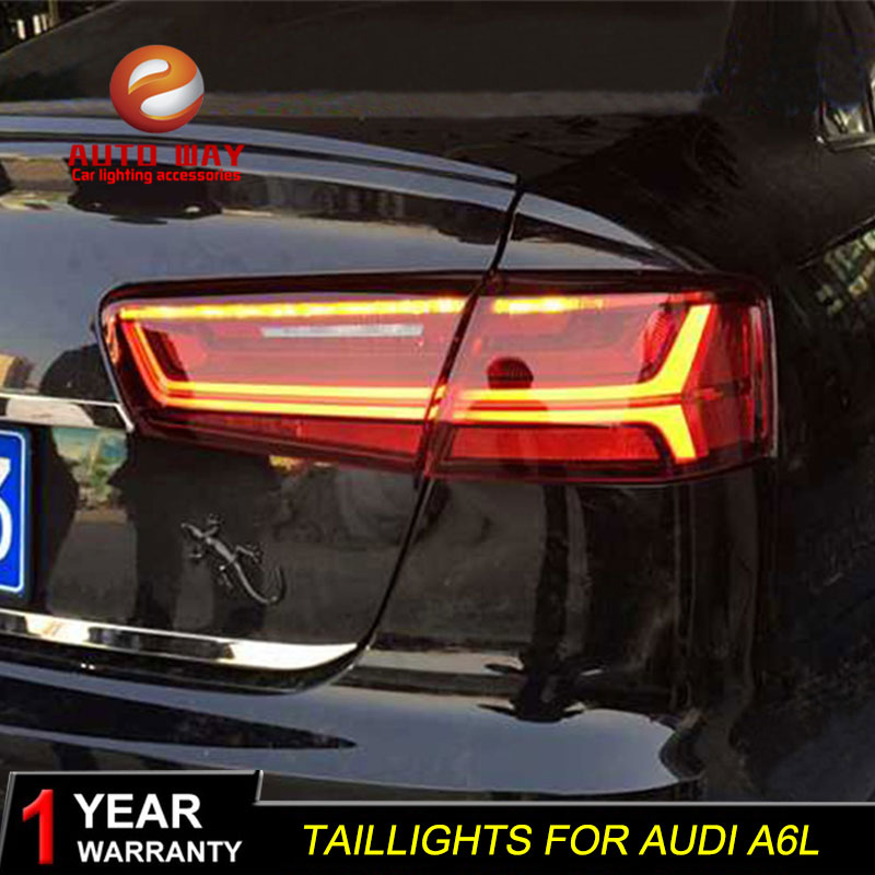 Car Styling case for Audi A6L A6 2012 2016 taillights Audi A6 Tatilights LED Tail Light LED Rear Lamp Certa taillight Automobile