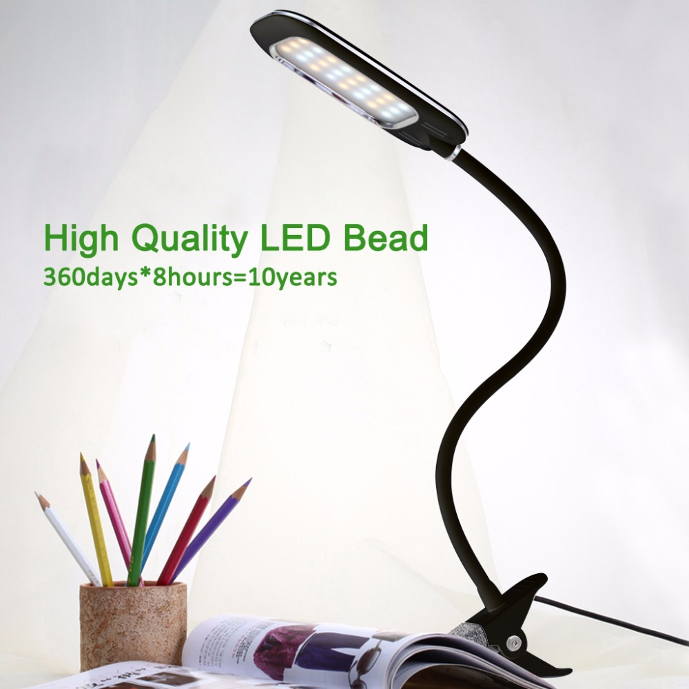 Online Shop Dimmable LED Table Lamp 5W USB Flexible Clip-On Clamp ...