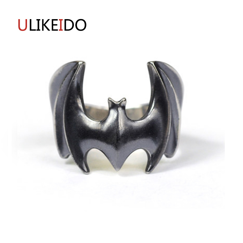 100% Pure 925 Sterling Silver Jewelry Bats Rings Opening Punk Men Signet Ring For Women Special Christmas Gift 1018100% Pure 925 Sterling Silver Jewelry Bats Rings Opening Punk Men Signet Ring For Women Special Christmas Gift 1018