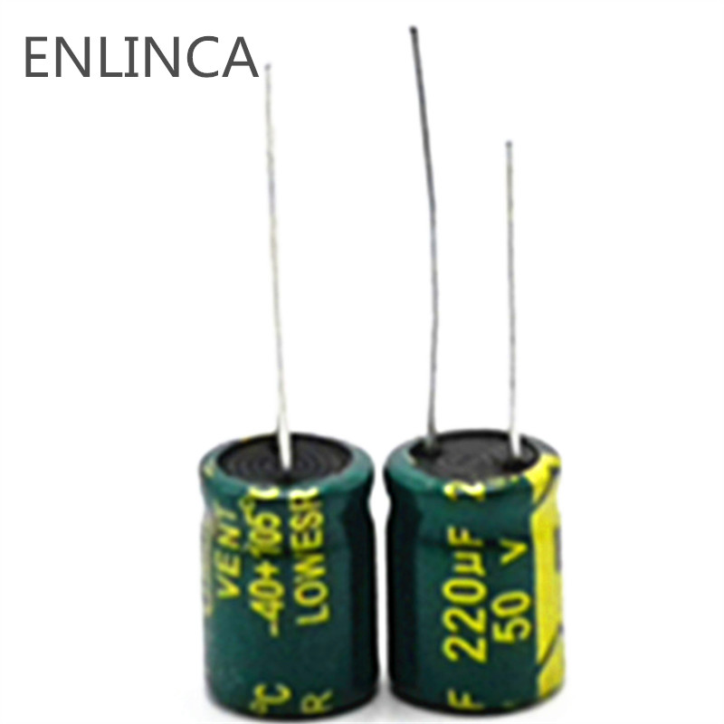 20pcs/lot P45 High Frequency Low Impedance 50V 220UF Aluminum Electrolytic Capacitor Size 10*13 220UF