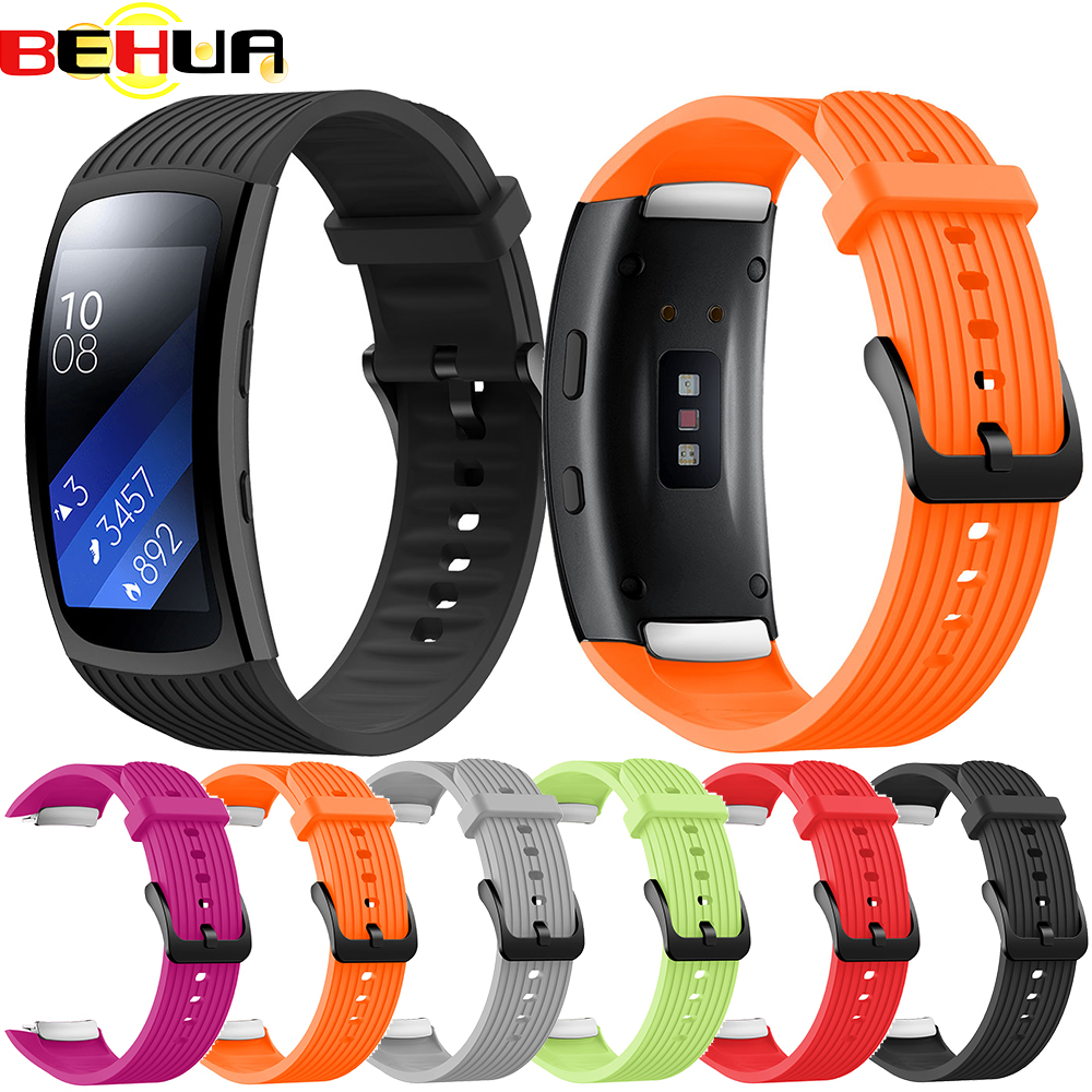 Replacement Wristband For Samsung Gear Fit 2 Pro Band With Metal Buckle Luxury Silicone Watchband For Samsung Fit2 SM-R360 Strap
