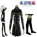 Anime Tokyo Ghouls Female Fight Uniform with Socks Cosplay Costume Daily Costume Kaneki Ken