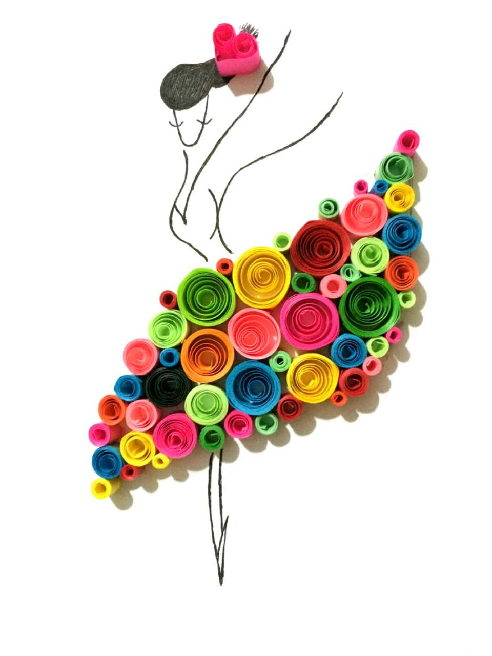 Diy A4 Quilling Paper Line Card Background Mould Origami Paper