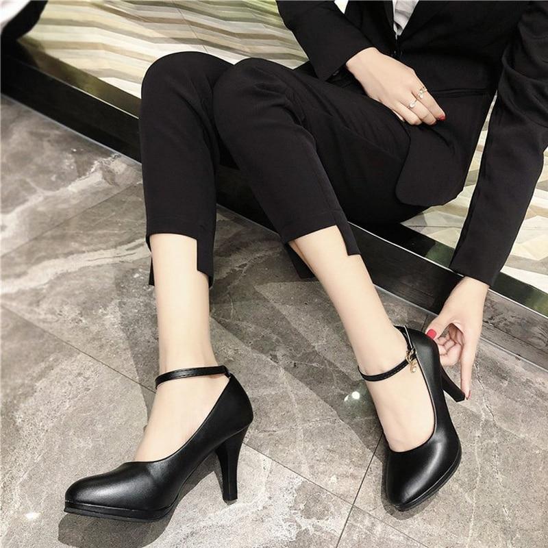 Graduación b Cuero Boda A Tacones Negro Las Señoras Peluche Con Black Zapatos  Para Altos Baile La De Mujeres Elegante ... d96a92131c68