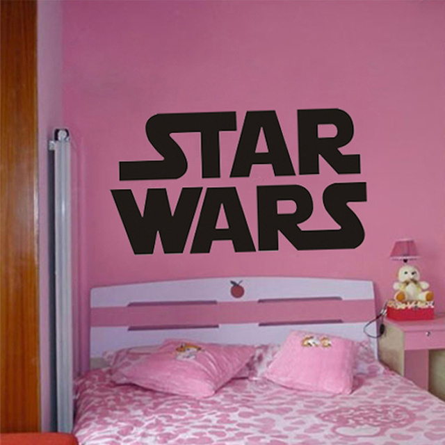 GIANT STAR WARS STARWARS LOGO BEDROOM STAR WAR POSTER WALL STENCIL STICKER  ART TRANSFER POSTER