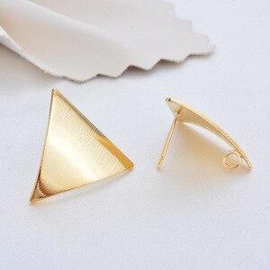 Image 3 - 30 pcs vàng tam giác vuông sao Bông Tai Drop bling Ear Studs Kết Nối Bài Viết Chân Cơ Sở Cài Đặt Trang Sức Làm handmade TỰ LÀM
