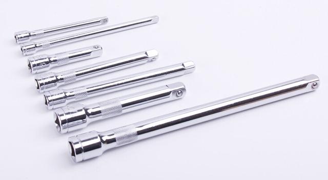1/4 3/8 1/2 polegadas chrome - tomada aço vanádio extensão extensão da haste ferramenta de conexão haste manga Socket extension rod