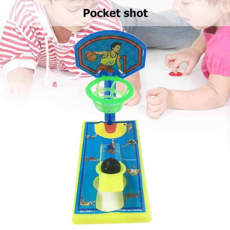 1 PC Mini Dedo de bolsillo de baloncesto máquina de disparo de escritorio Anti-estrés descompresión niños juguete padres-niños juegos interactivos