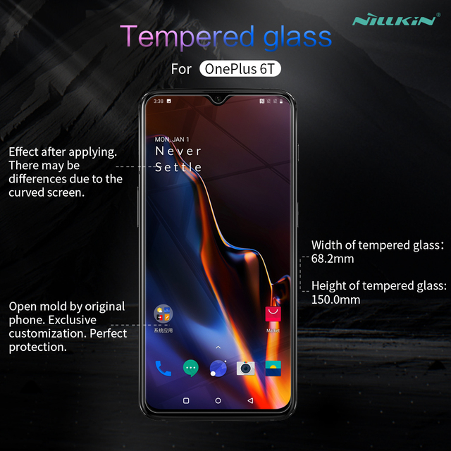 Nillkin OnePlus 6T Amazing H 0.3 MM Tempered Glass Screen Protector