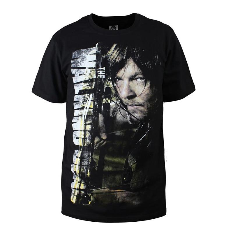 The Walking Dead Summer T Shirt Men Daryl Dixon Rick D T-Shirts Funny Casual Commemorative Tee Shirts Tops