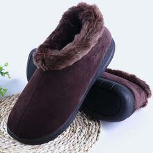 Зимние мягкие мужские тапочки, толстая плюшевая мужская домашняя обувь, домашние тапочки для пола, мужские теплые тапочки, мужская обувь