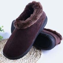 Kış Yumuşak erkek terlikleri Kalın Peluş Erkek Ev Ayakkabı Kapalı Kat Adam ev terliği erkek ayakkabısı