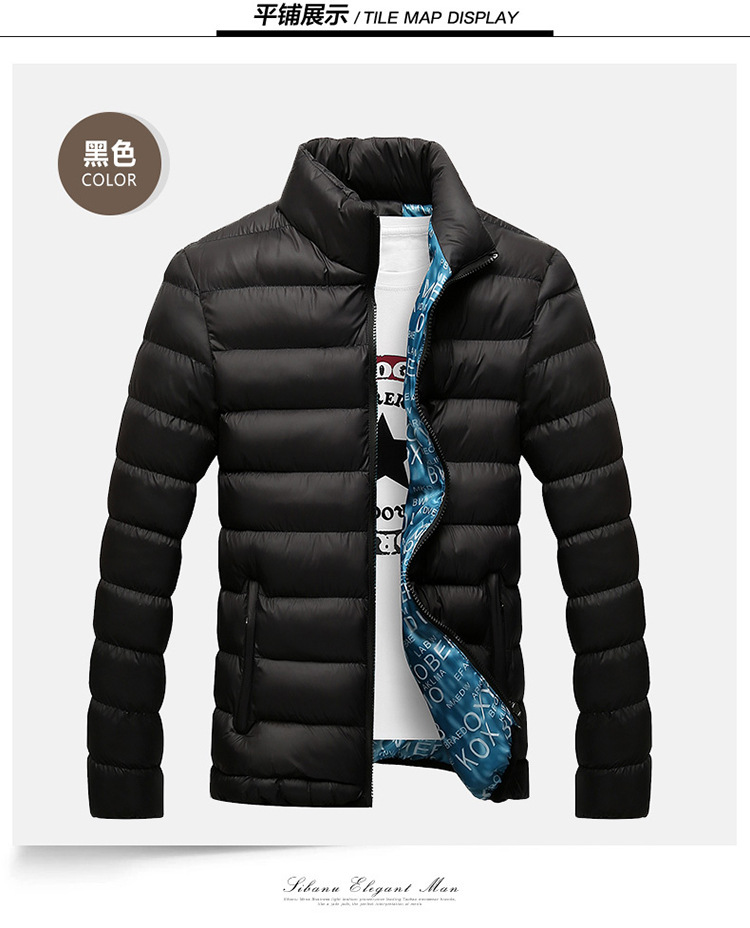 Winter Jacket Men 2019 Fashion Stand Collar Male Parka Jacket Mens Solid Thick Jackets and Coats Man Winter Parkas M-6XL 13