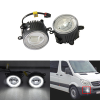 Direct Fit For Benz Sprinter 208 515 06 08 Front Led Fog Lights W/ Guide Angel Eyes DRL Halo Rings Car Styling Car Parts Lamp