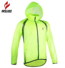 ARSUXEO Super Light Breathable Bike Bicycle Quick Dry Jersey Cycling Cycle Long Sleeve Rain Wind Coat Windcoat Windproof Jacket ultra light hooded bicycle jacket bike windproof coat road mtb aero cycling wind coat men clothing quick dry jersey thin jackets