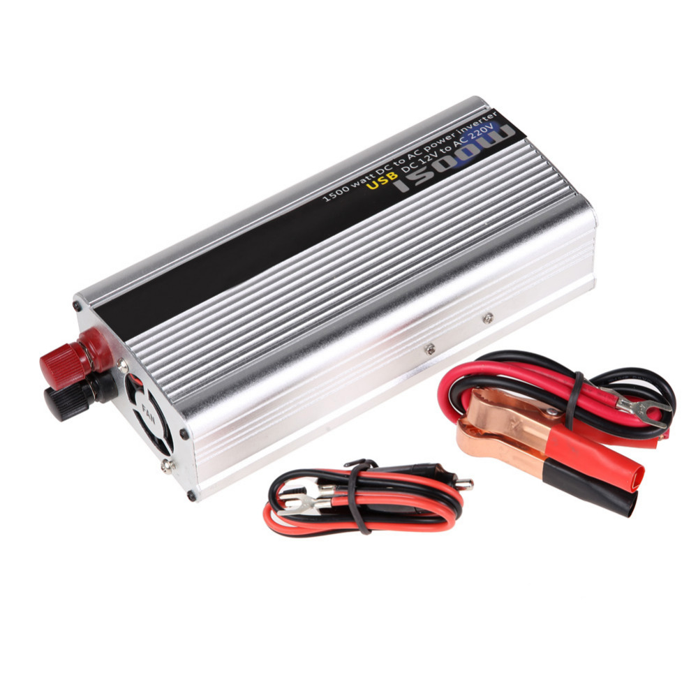 1500W Vehicle Car Power Inverter Converter DC 12V to AC 220V Modified Sine Wave Power Adapter With Car Cigarette Lighter free shipping new women boot cut jeans girls fashion bell bottom trousers mid waist flares pants size 25 32