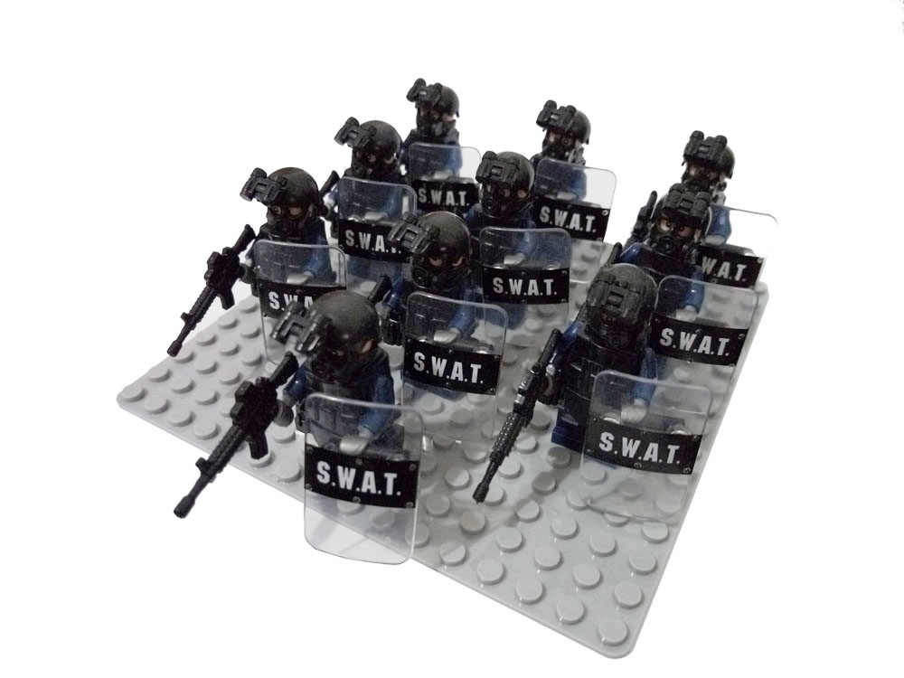 10pcs SWAT Policeman Special Forces Army Camouflage Soldiers Assault Troops Building Block Brick