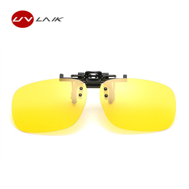 e40ee7b896 UVLAIK New Fashion Clip on Myopia Glasses Mirror HD Polarized Sun Glasses  Men Night Vision Goggles