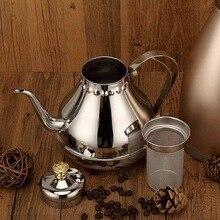 1.2L Splitter Edelstahl Schwanenhals Gießen Kaffee Tropf Wasserkocher Tee Filter Topf Verdicken Kaffee Teekanne Shop Kaffeekanne