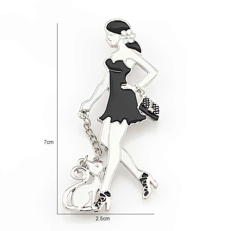 Baiduqiandu Stile Vintage Vari Disegni Smaltato E Nappa Spilla Spilli Set per Le Donne O di Abbigliamento Decorato Gioielli
