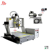 China CNC 3040 4axis CNC Router Engraving Machine metal aluminum mill work stroke 400x300x130mm