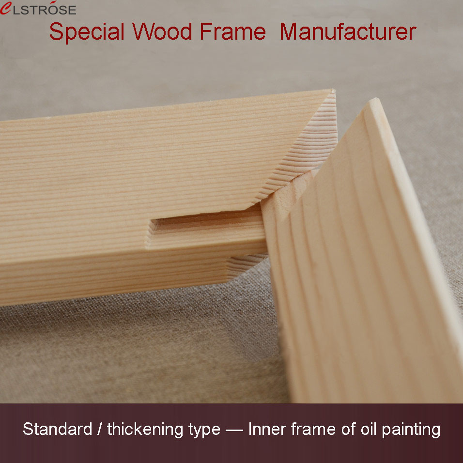 Clstrose moldular hot sale good pine wood material frame for Materials for canvas painting