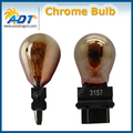 10pcs Silver Chrome Amber/red Bulb S25 T25 T-25 3057 3155 3157 3357 3457 12v 27w Dome light,Parking,Stop Tail, Rear Turn Signals