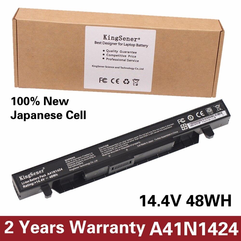 KingSener New A41N1424 Laptop Battery for ASUS ROG ZX50 ZX50J ZX50JX JX4200 JX4720 GL552 GL552J GL552JX 14.4V 48WH