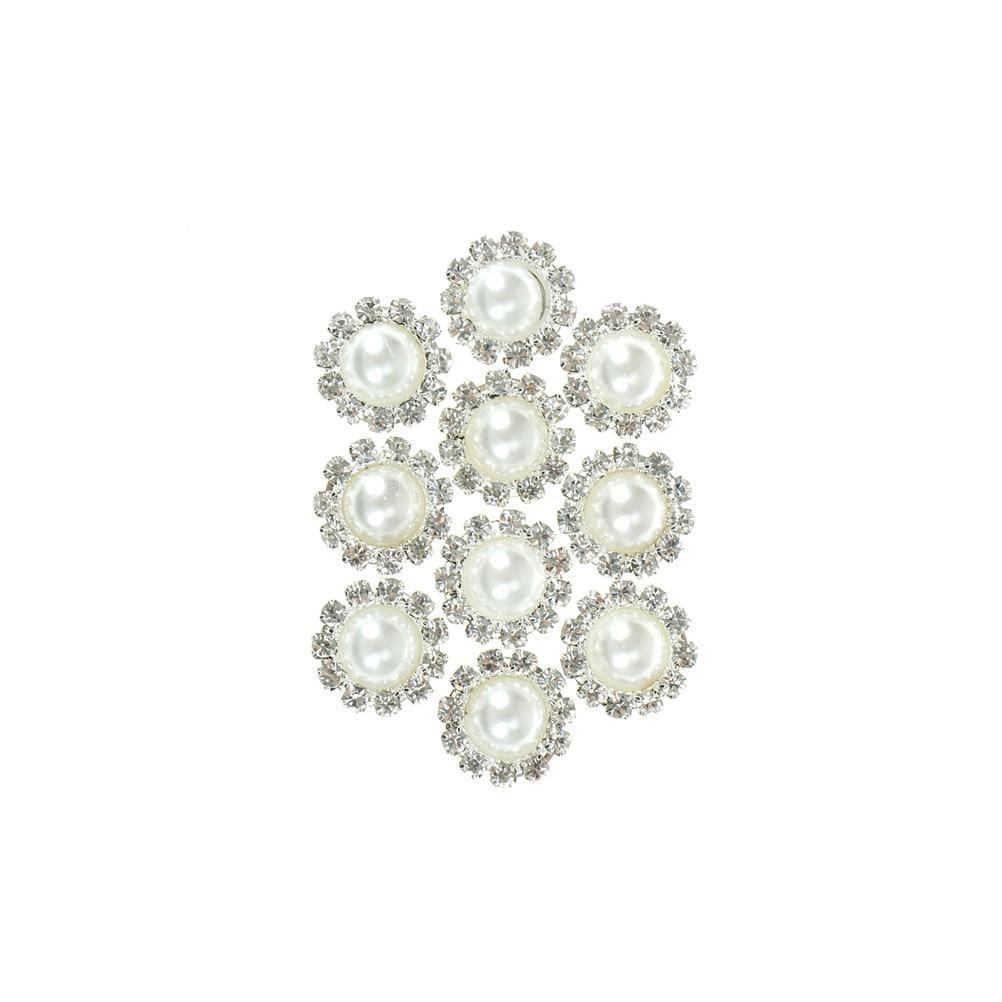 10 x balai teint plat oblong shell perles OB16 g brown