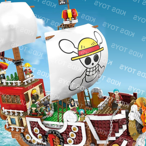 3D2Y Playmobil One Pieces Thousand Sunny Ship 9 Figures Pirate lepining SY6297 Ship Techinc Set Building Block Kids Toys SY6296(China)